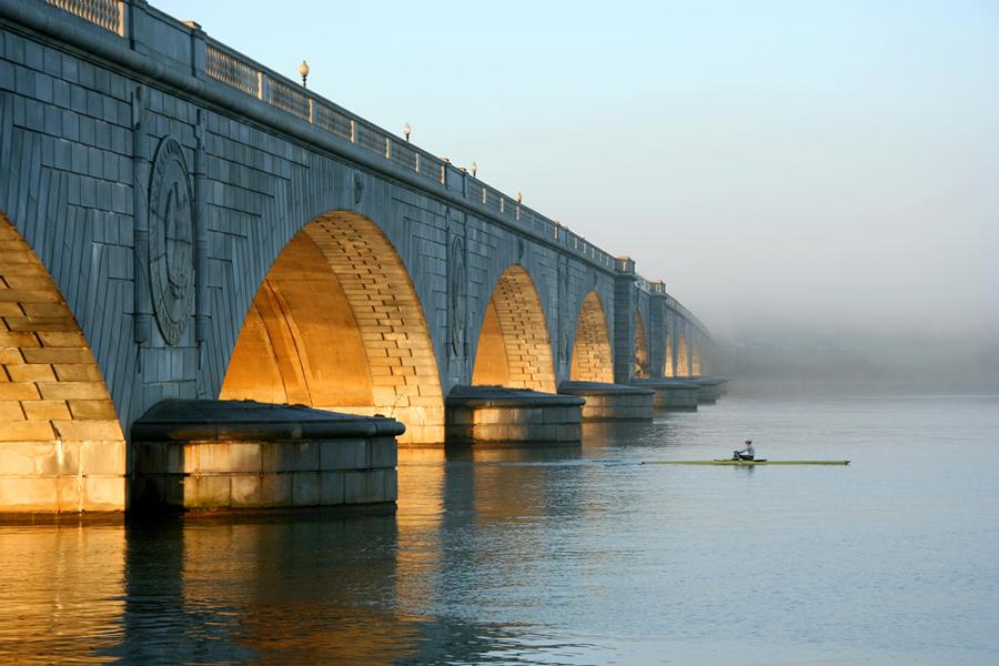 Memorial Bridge, January Morning, Chesapeake Watershed Exhibit 2009