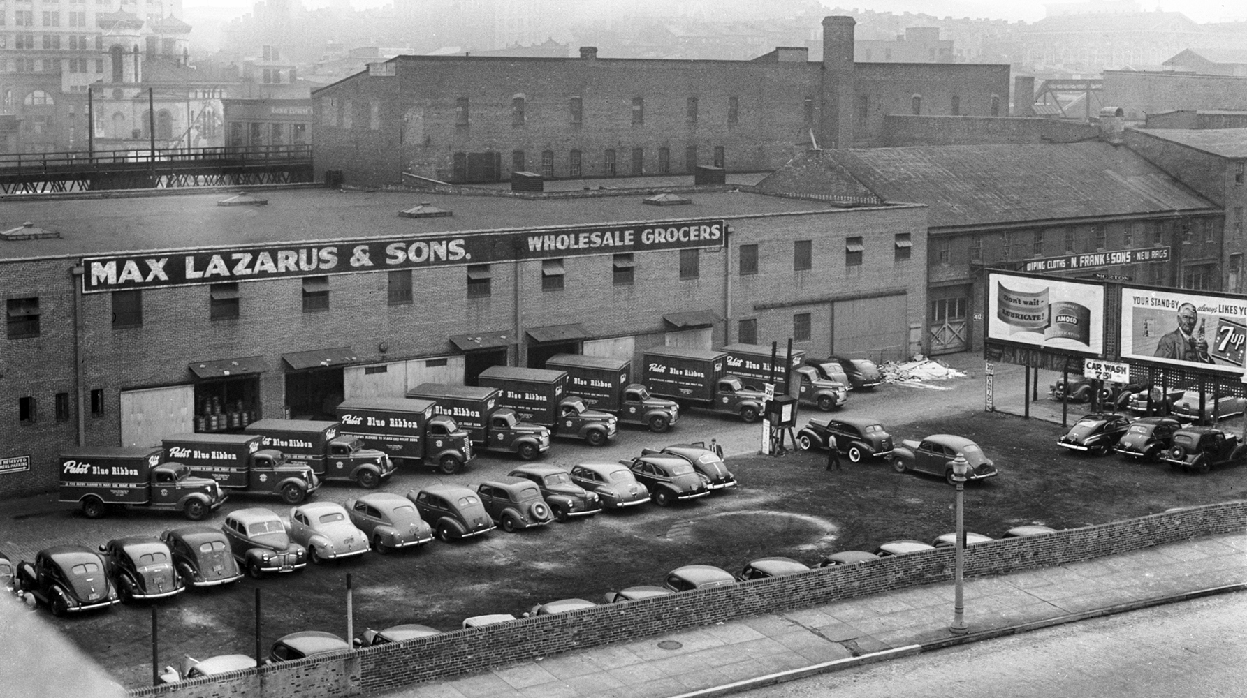 Max Lazarus and Sons warehouse on Holliday Street