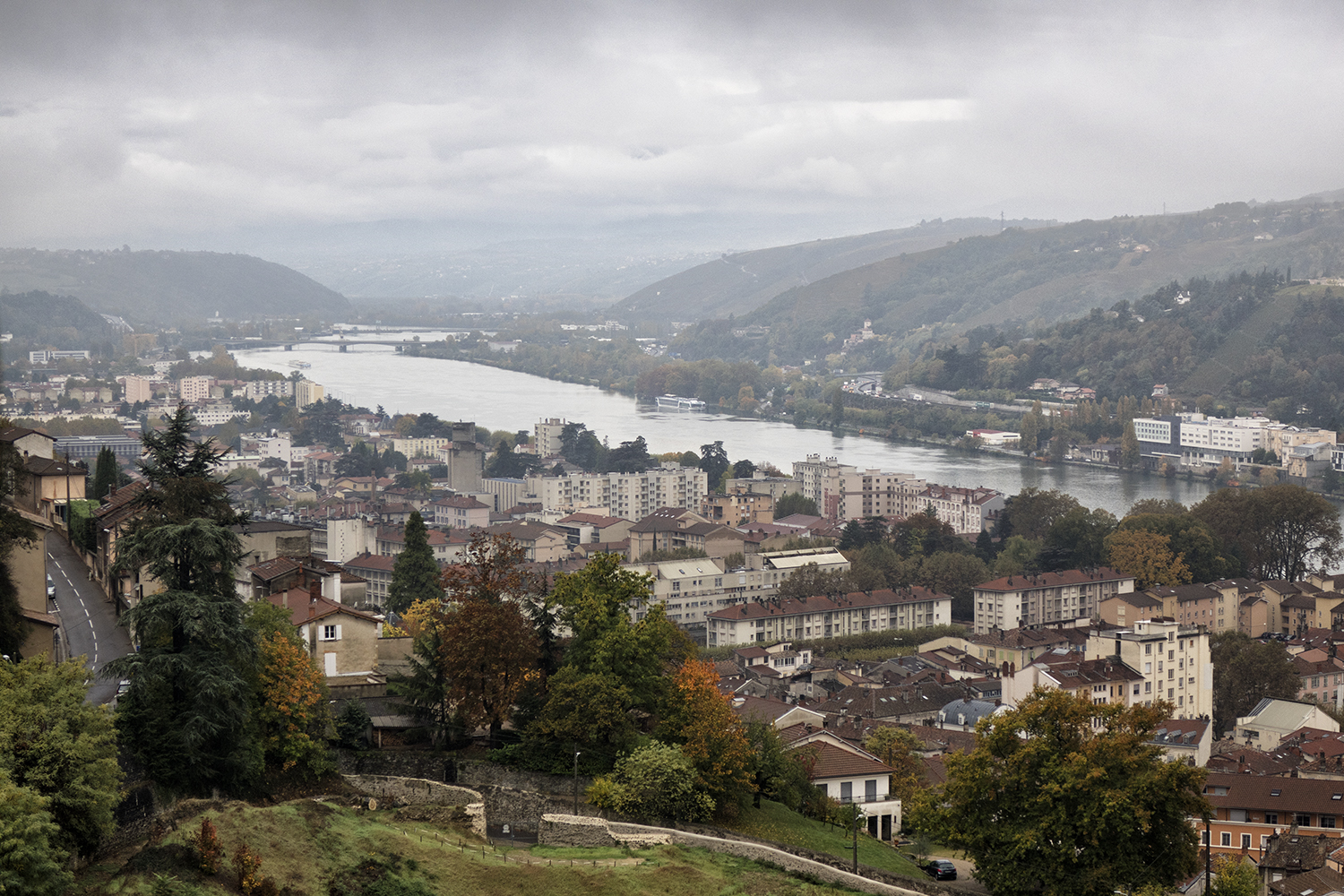 Vienne, France and the Rhone River