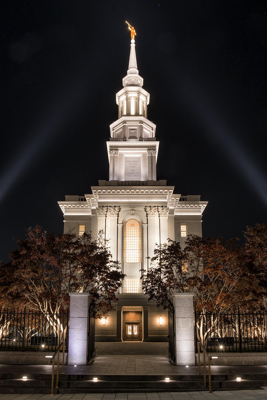 Philadelphia Mormon Church, November Evening