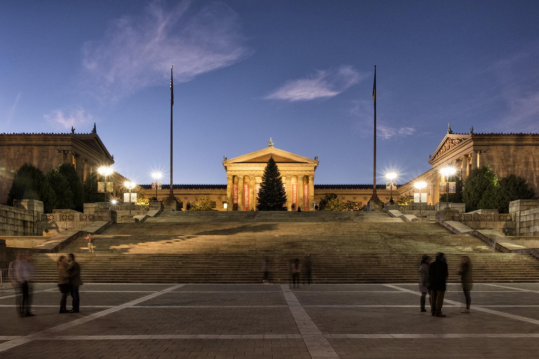 Philadelphia Museum of Art, November Evening