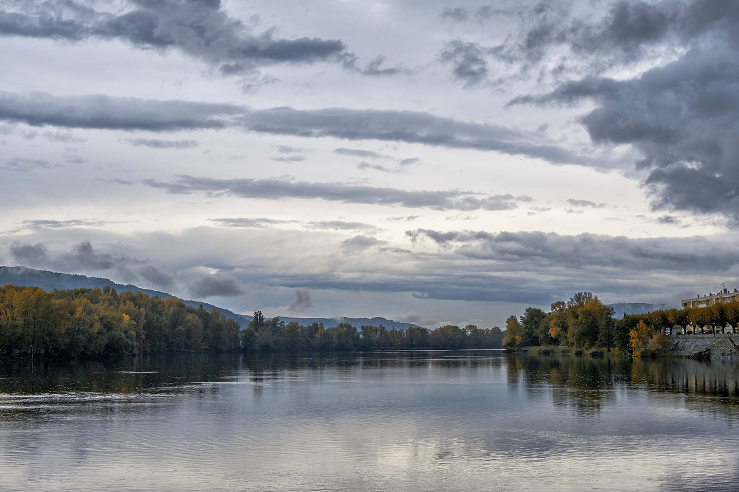 Rhone River, Tournon, France, October Afternoon