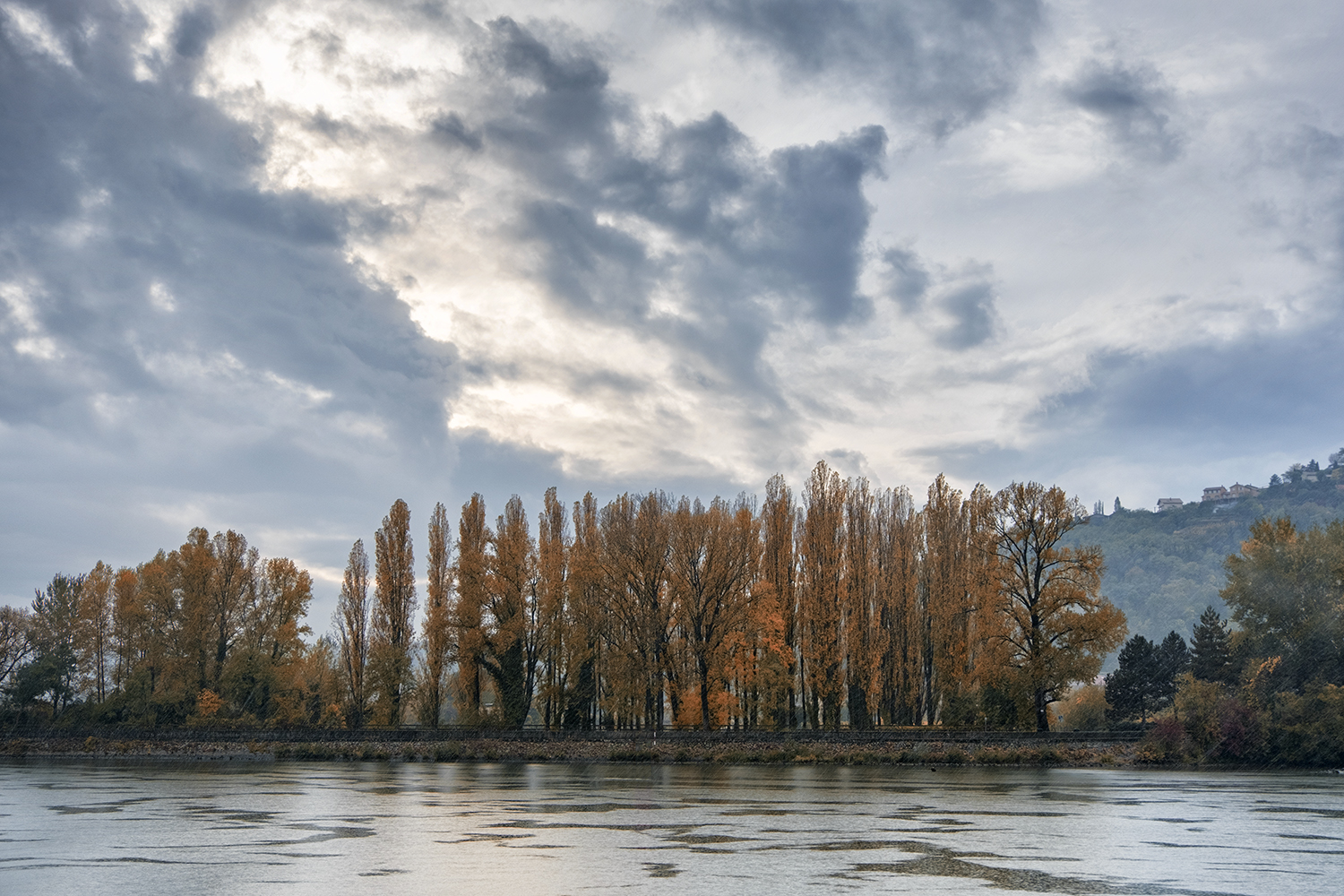 Rhone River, October Afternoon
