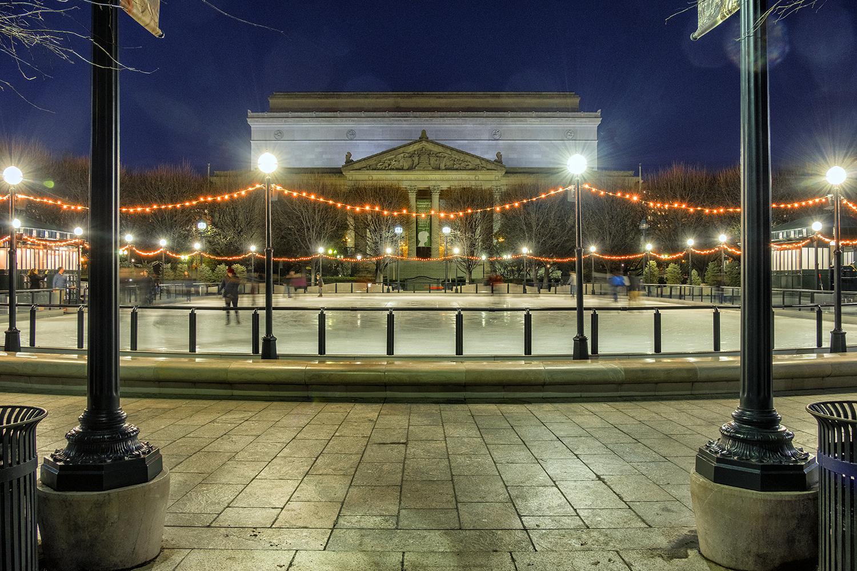 Sculpture Garden, December Evening