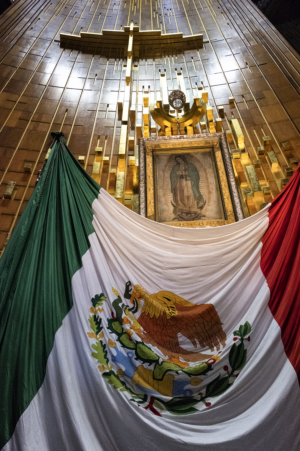 In the Basilica of Our Lady of Guadalupe, Mexico City