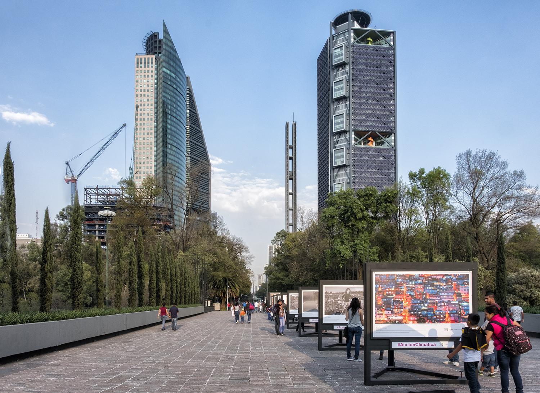Paseo Reforma from Chapultepec Park