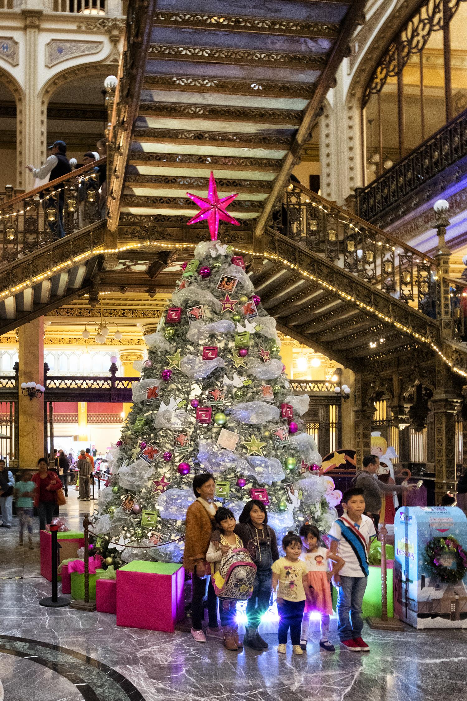 Inside the Palacio Postal, Mexico City