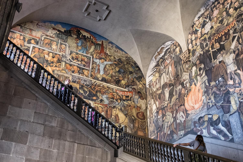 Diego Rivera Frescos, Palacio Nacional, Mexico City