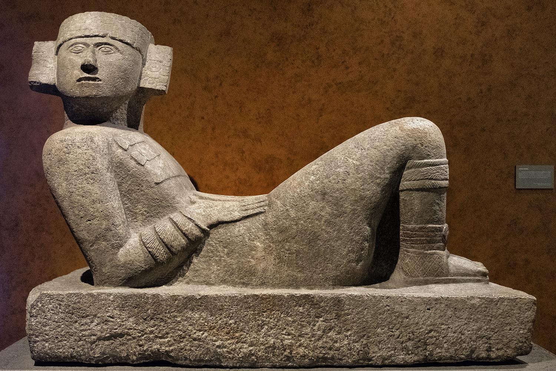 In the Museo Nacional de Anthropologia, Mexico City