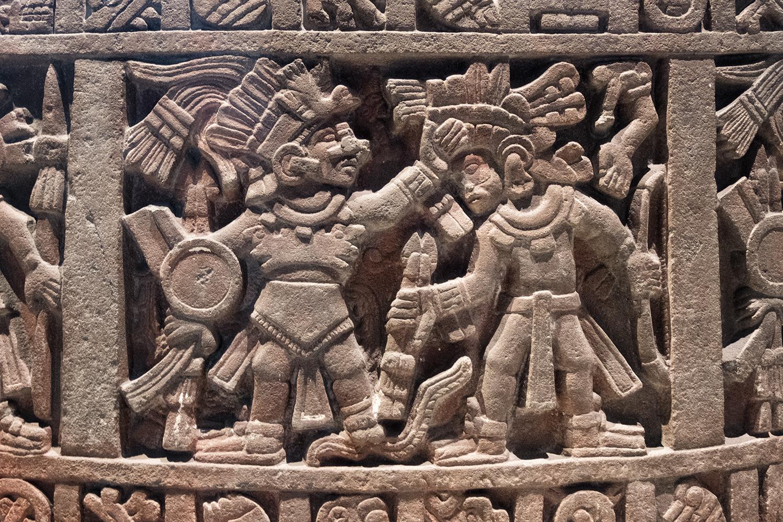 In the Museo Nacional de Anthropologie, Mexico City