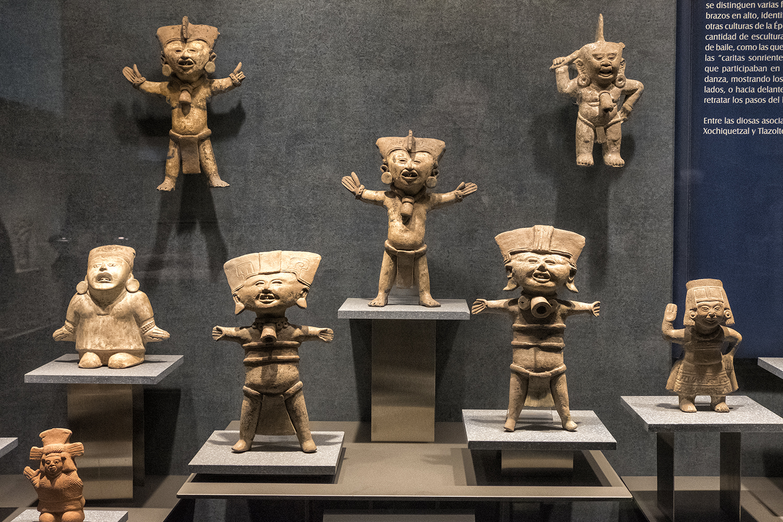 In the Museo Nacional de Archaeologia, Mexico City