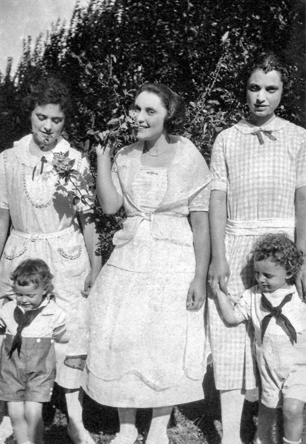 Gottlieb Sisters: Irene, Isabel and Kathryn, with Radford and Doug