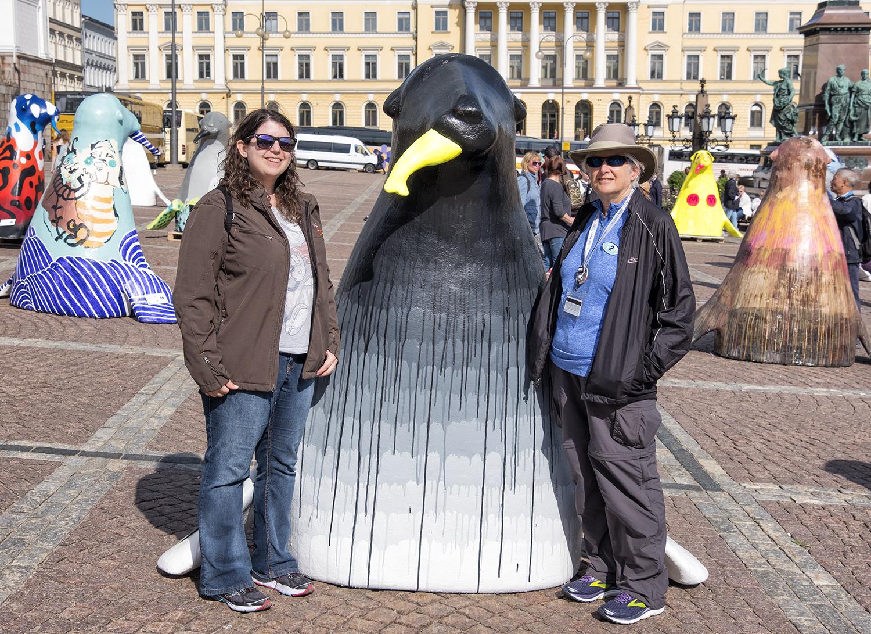 In Senate Square, Helsinki