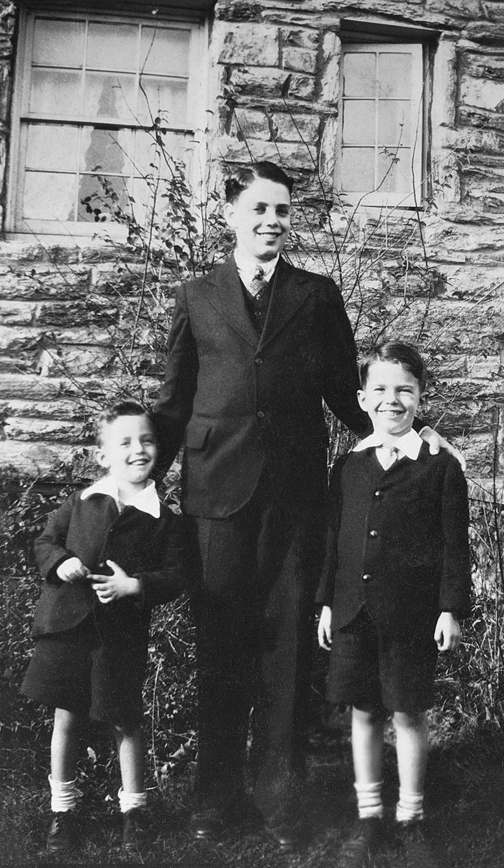 Richard, Buddy and Doug, 1934