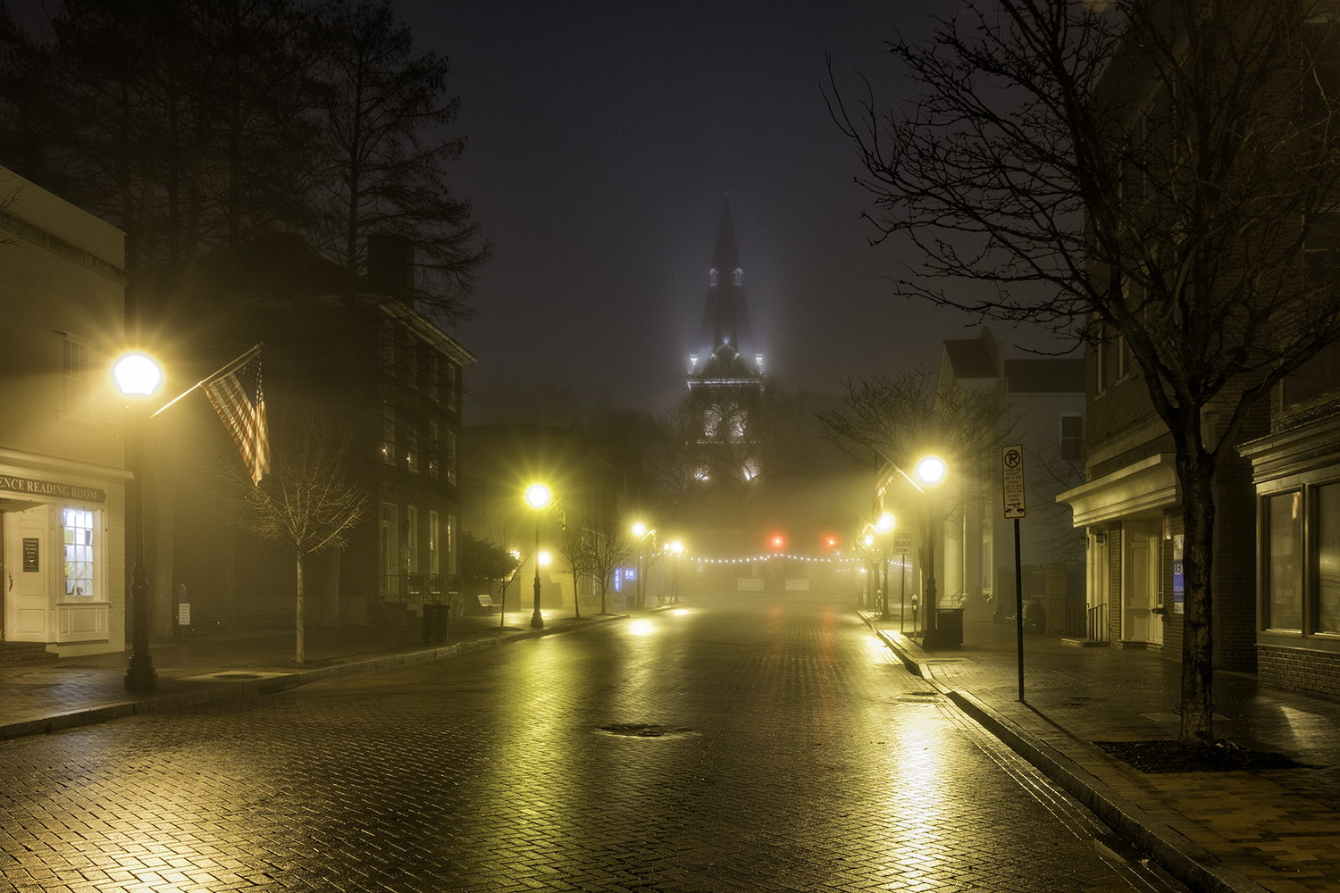 West Street and St. Anne's Church, February Morning