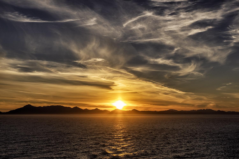 July Sunset, Inside Passage, Alaska