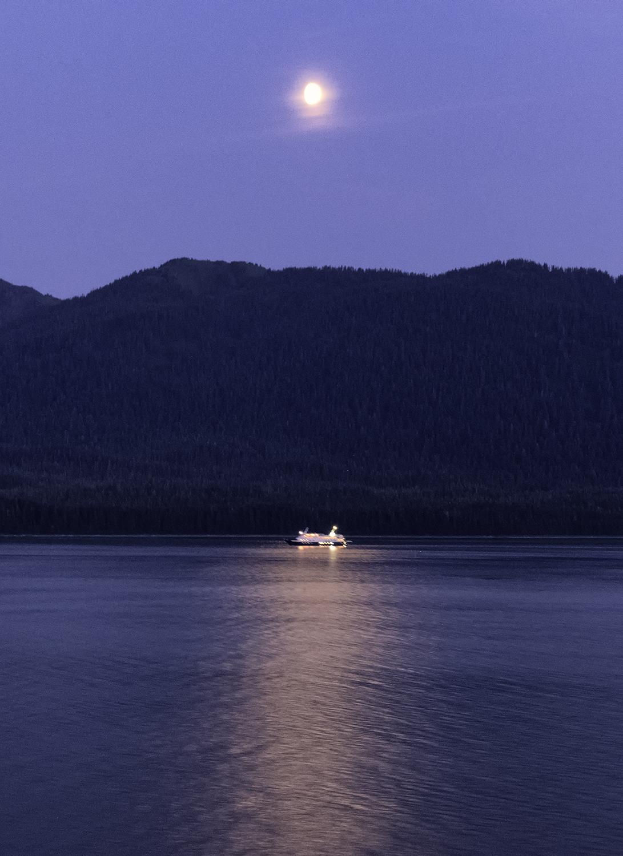 Nighttime on the Inside Passage, Juneau, Alaska
