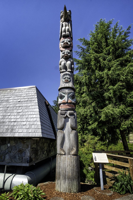 Raven Stealing the Sun Totem, Ketchikan, AK
