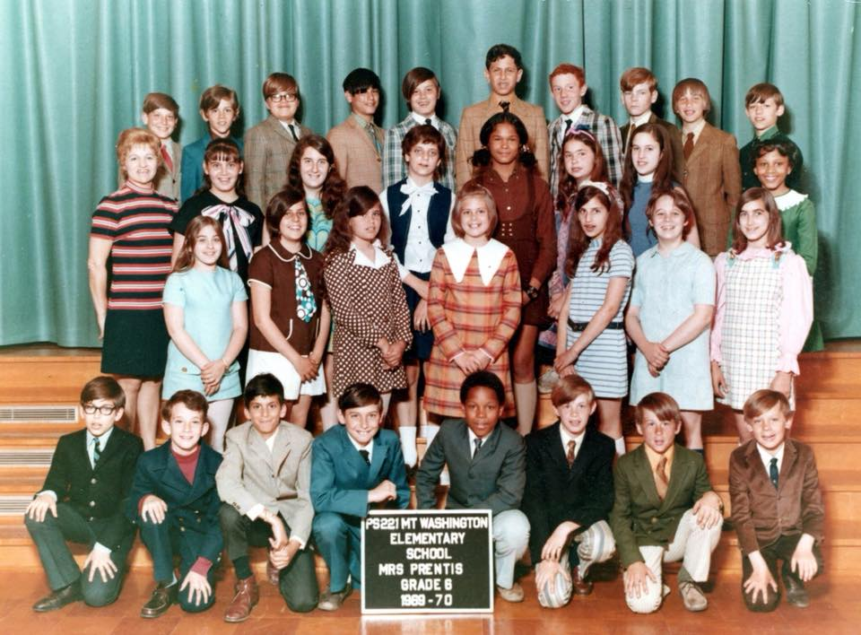 Mrs. Prentis' 6th Grade, 1970. Note the jackets and ties on the boys.