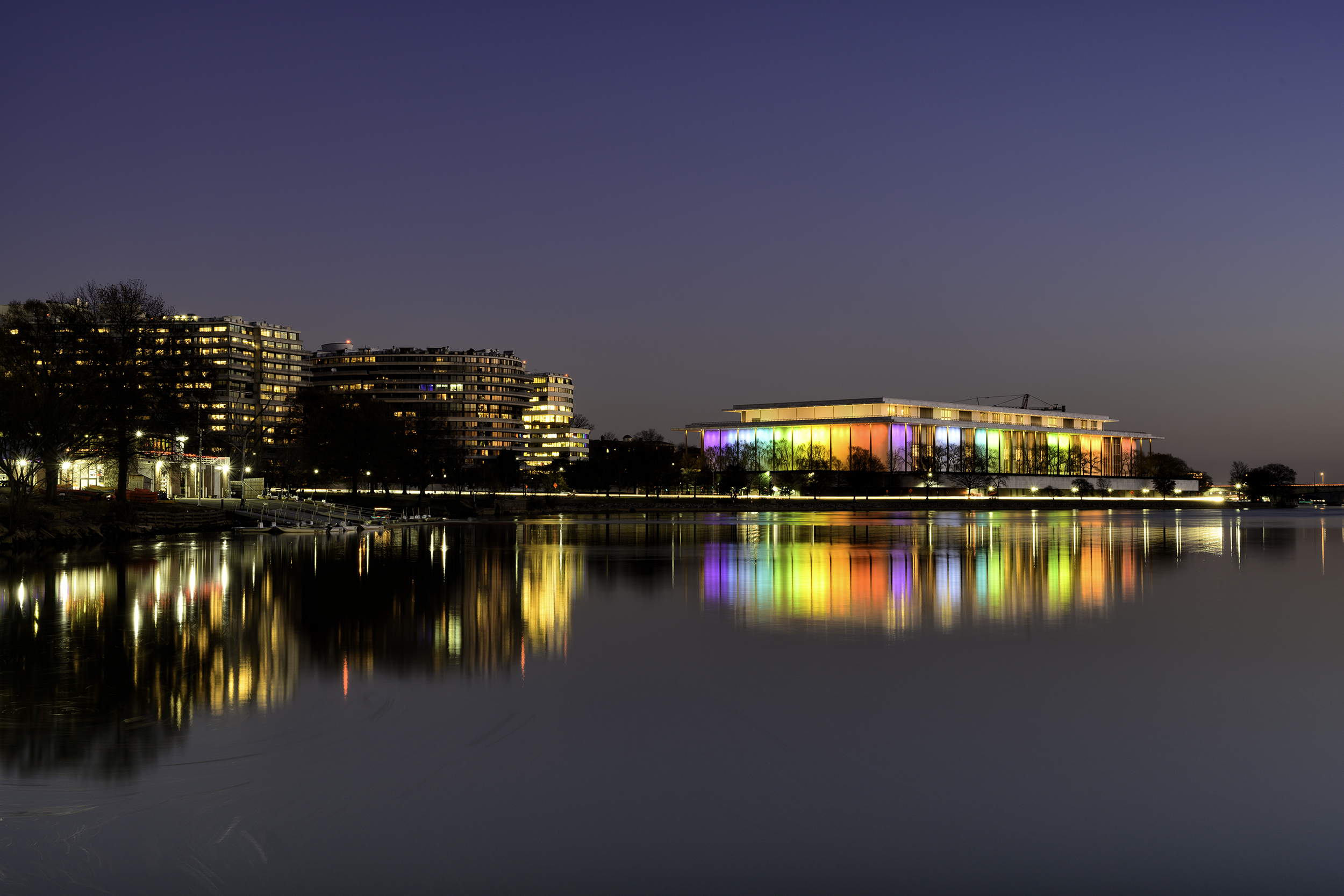 Kennedy Center, December Evening