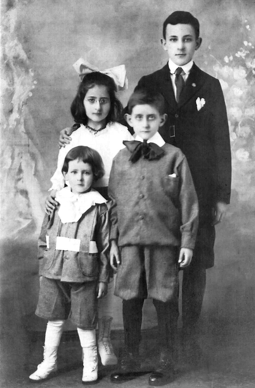 Leon. Esther, Ruben and Fred Schwartzstein