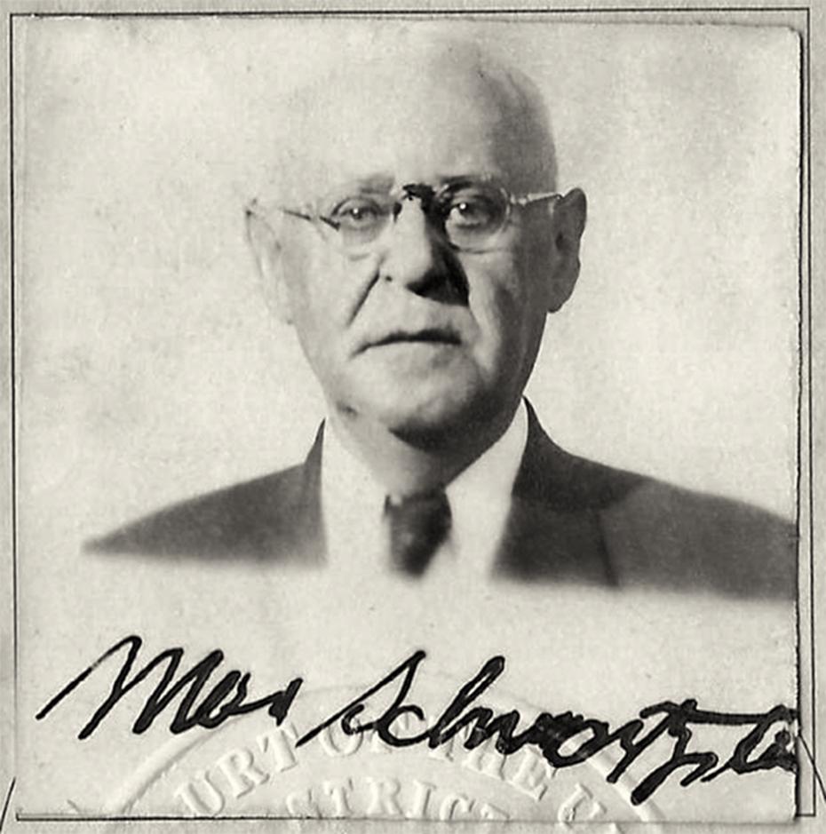 Max Schwartzstein, from his naturalization certificate