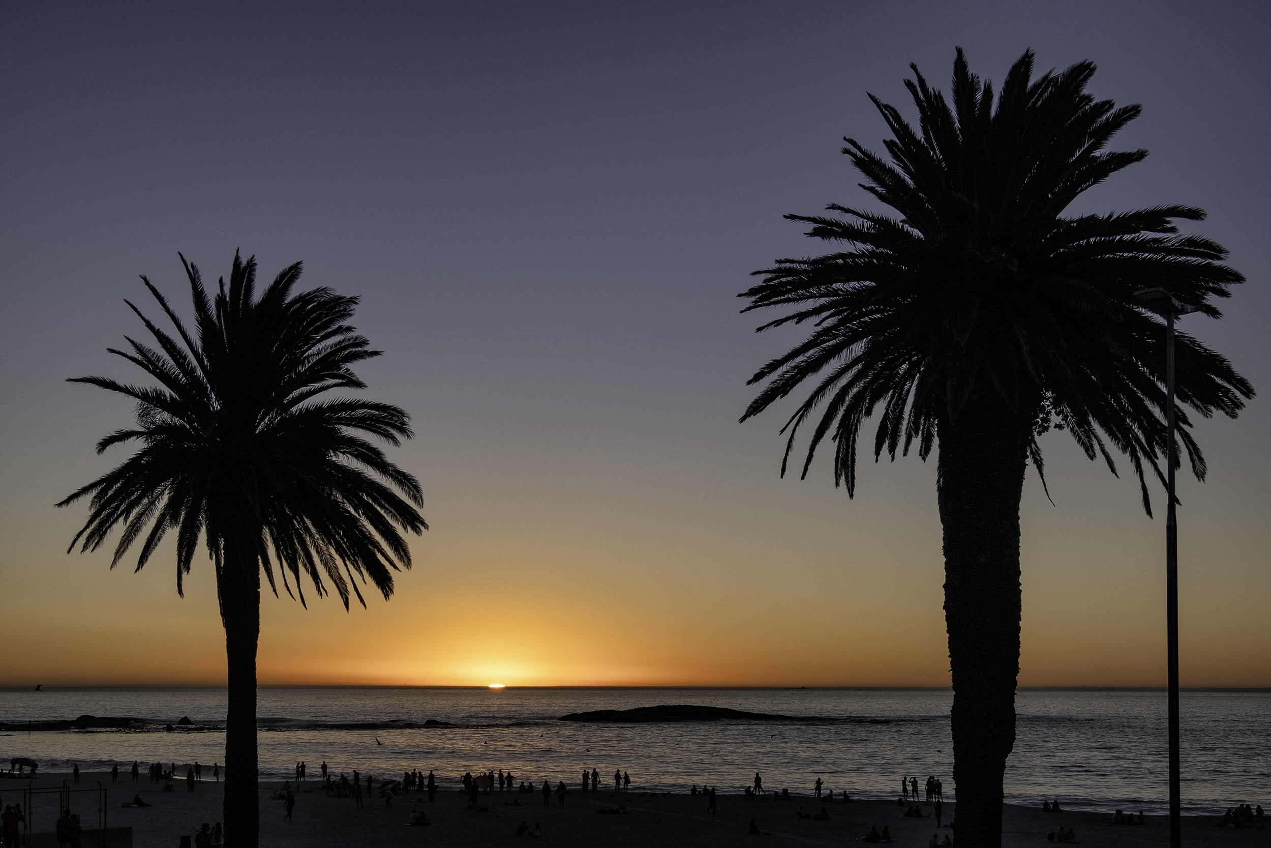 Camps Bay Sunset, Cape Town, SA
