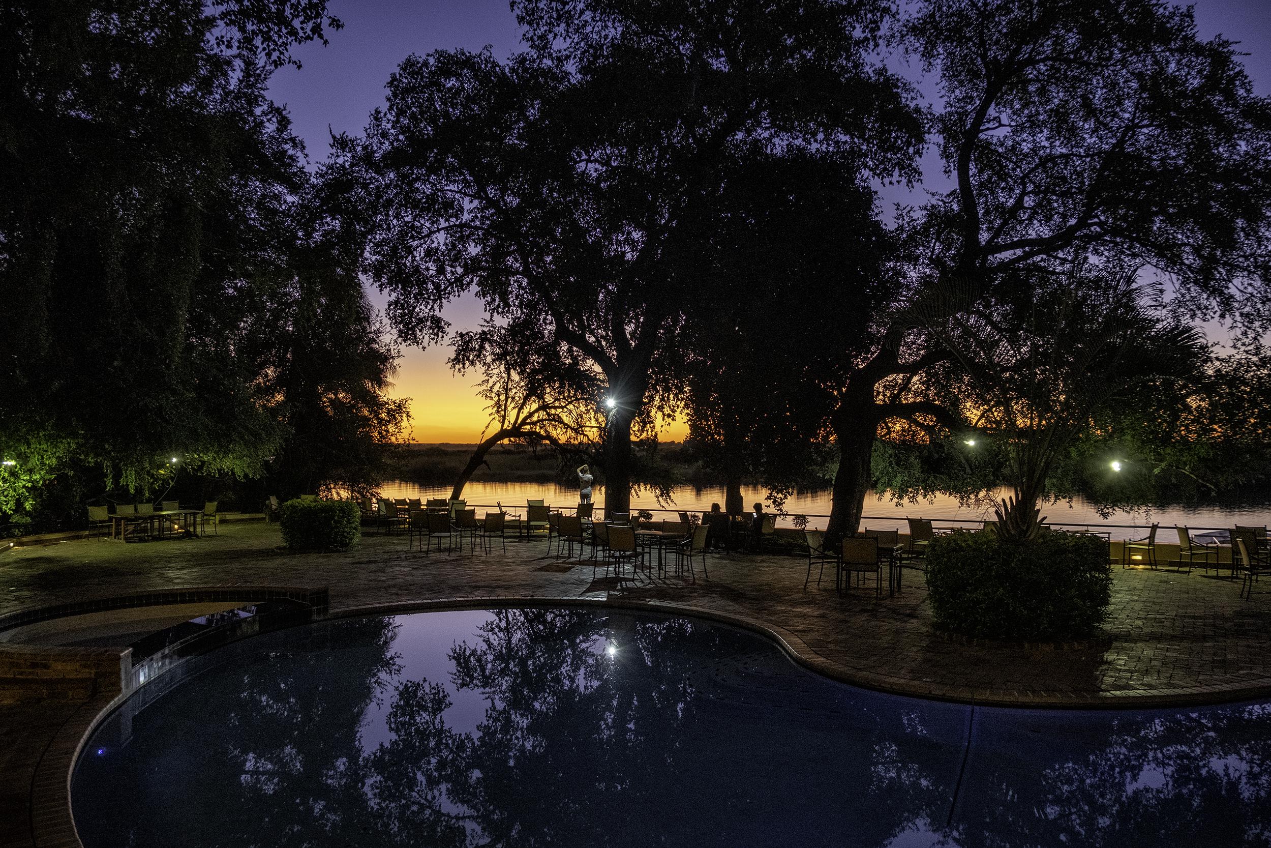 Chobe Safari Lodge, Botswana, February Evening