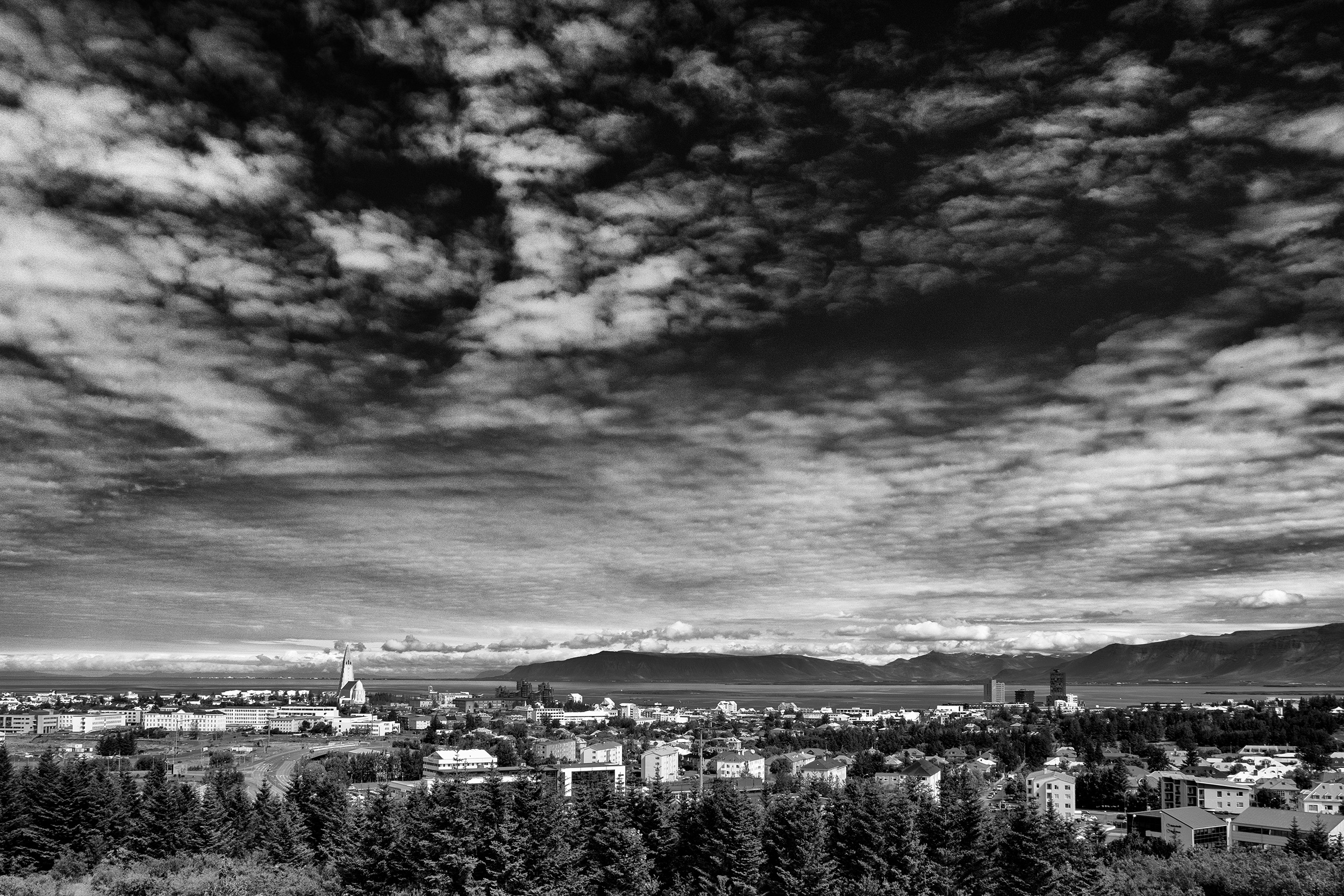 Downtown Reykjavik from the Perlan
