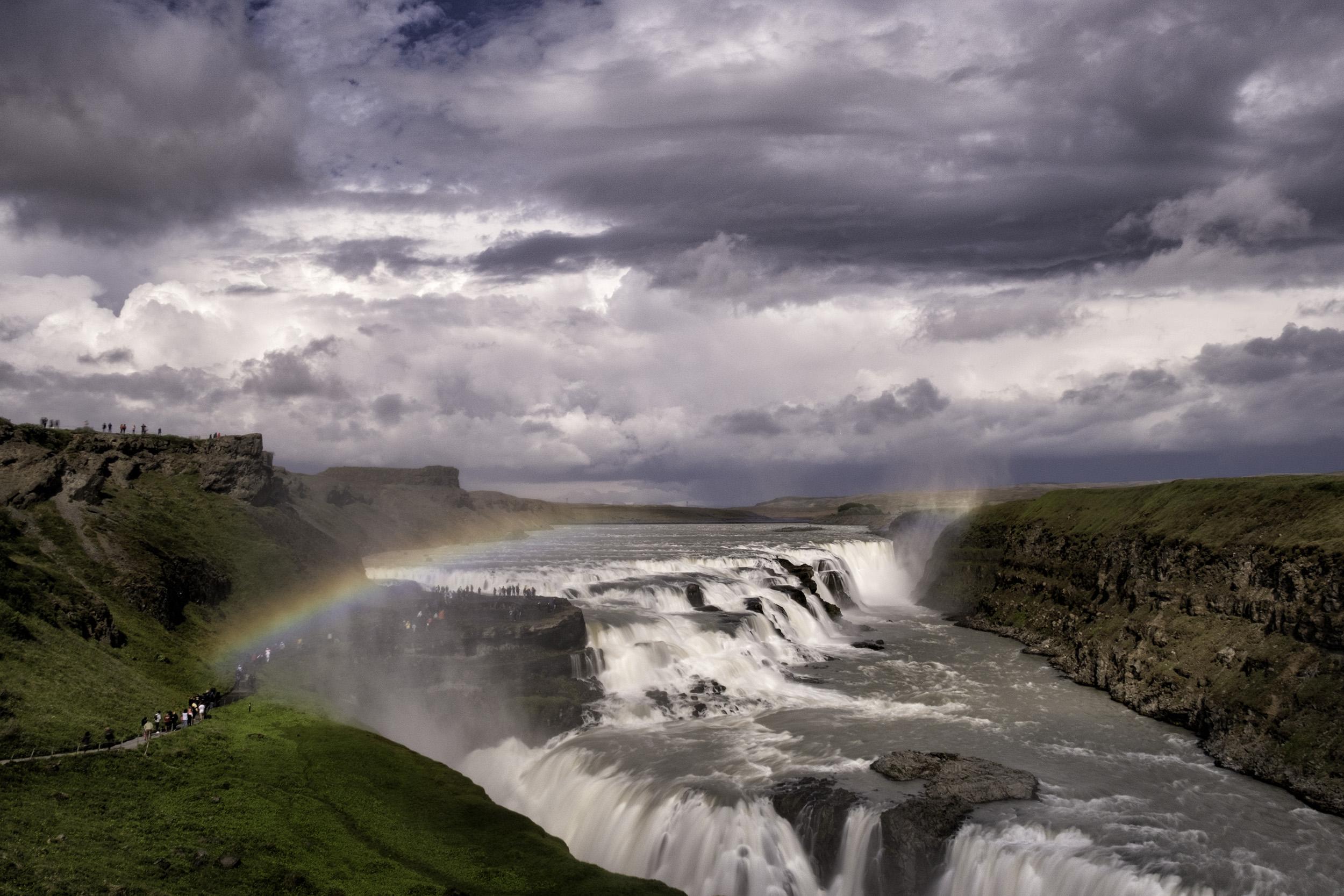 Storm Over Gullfoss Waterfall, Iceland