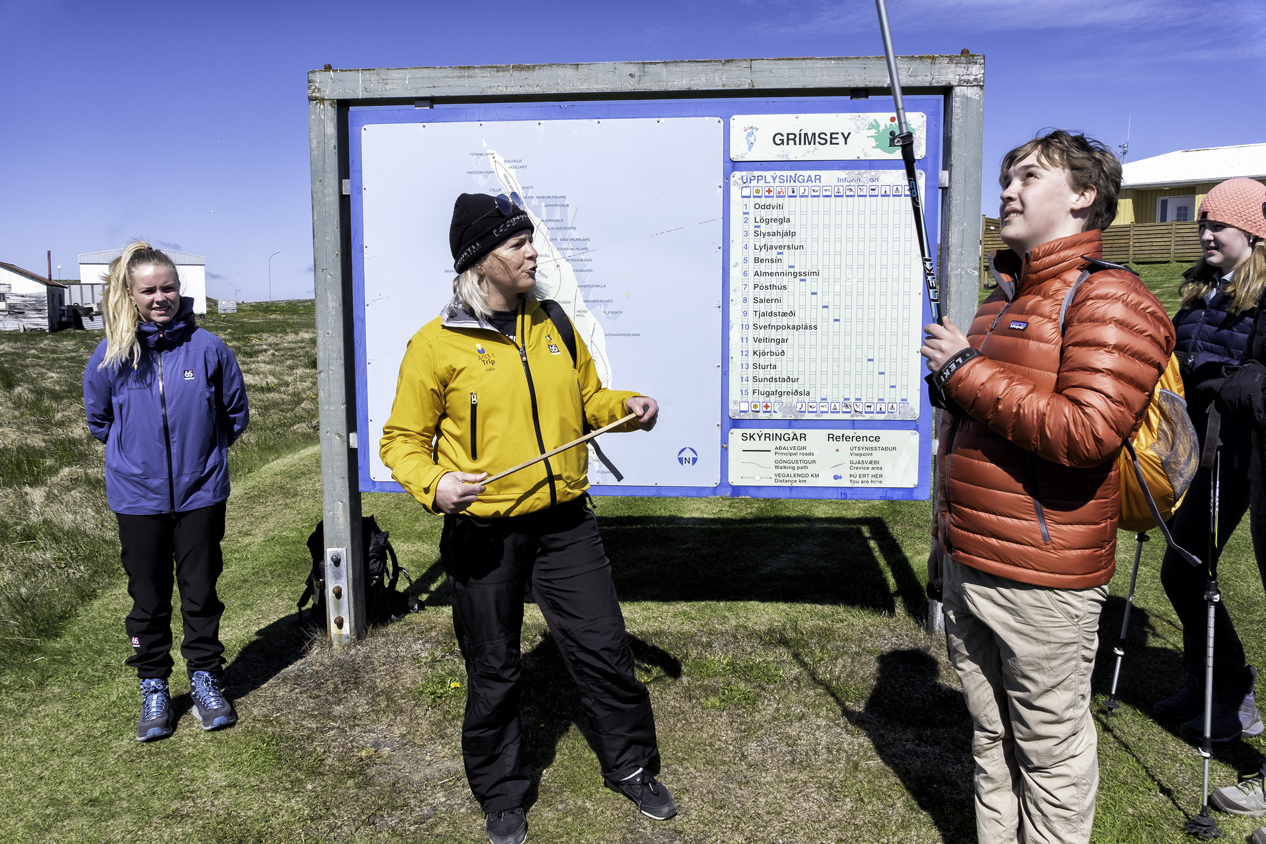 Halla, the Guide on Grimsey Island