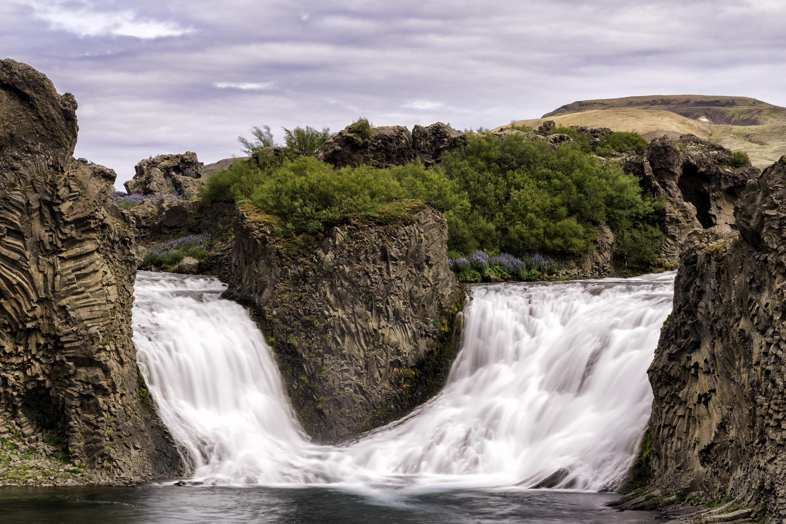Hjálparfoss Waterfall, Iceland