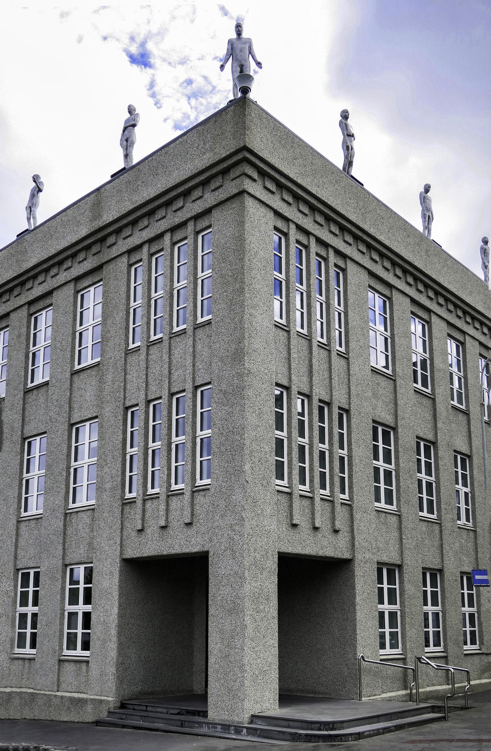 Trophies by Steinunn Þórarinsdóttir on the Ministry of Finance Building, Reykjavik