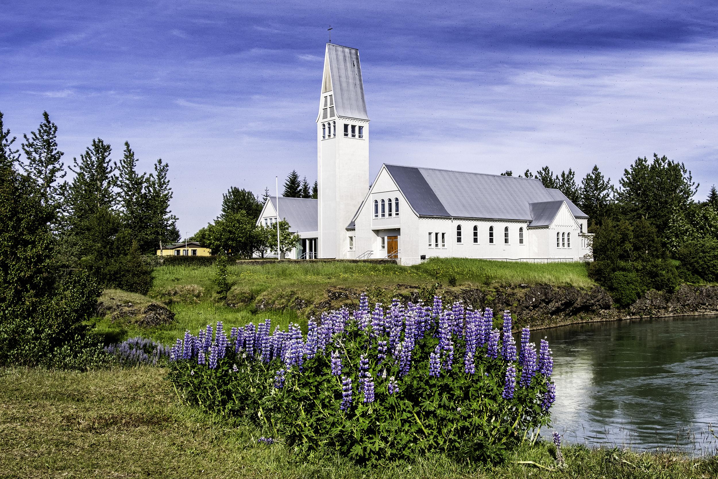 Selfosskirkja Lutheran Church, Selfoss, Iceland