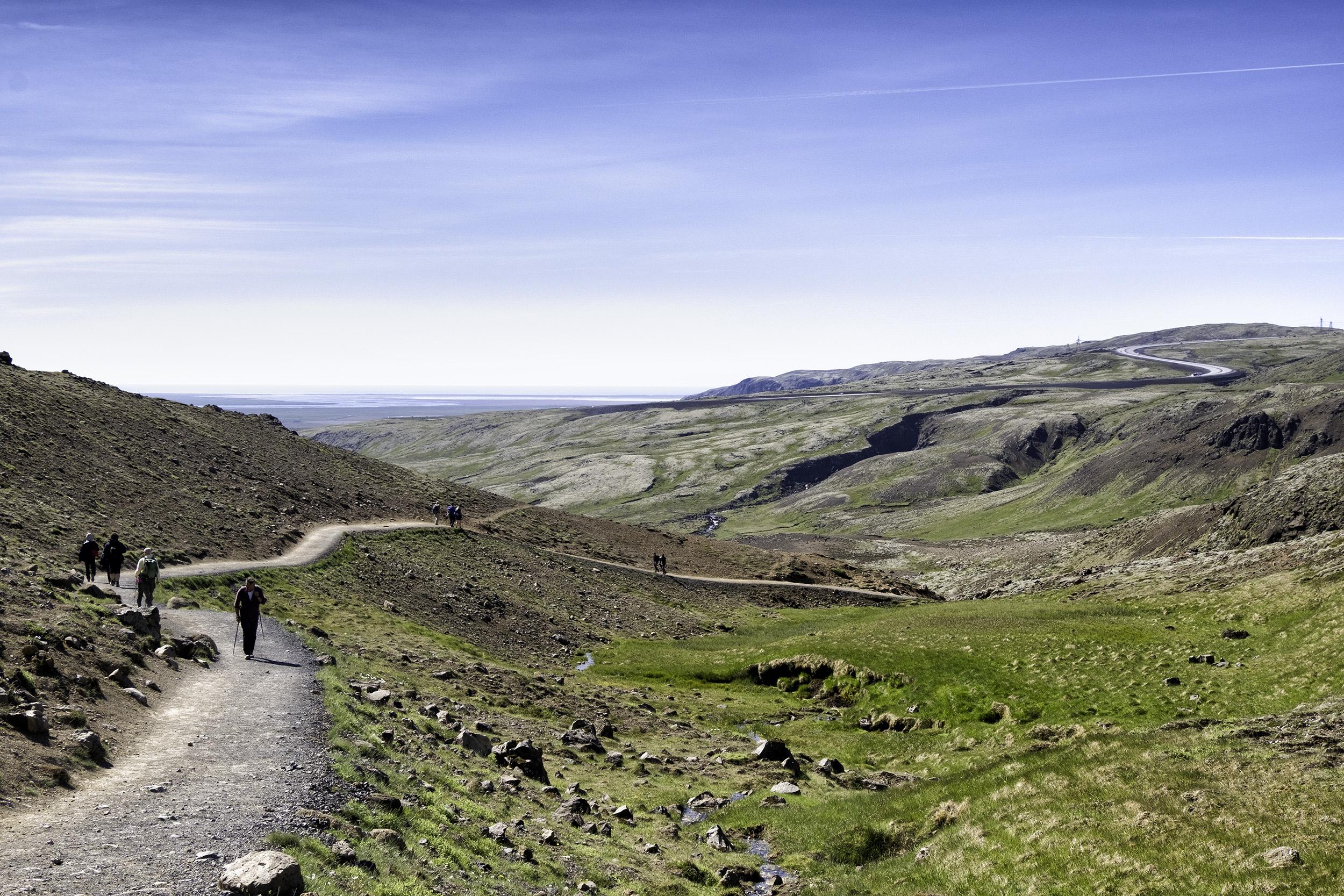 Path to Reykjadalur Hot Spring