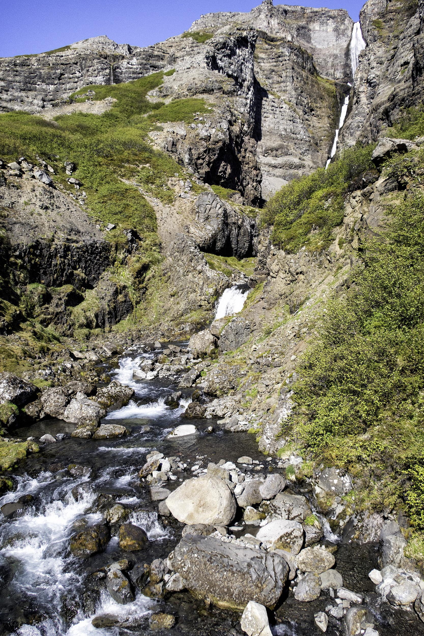 Valagil Waterfall, Ísafjarðarbær, Iceland