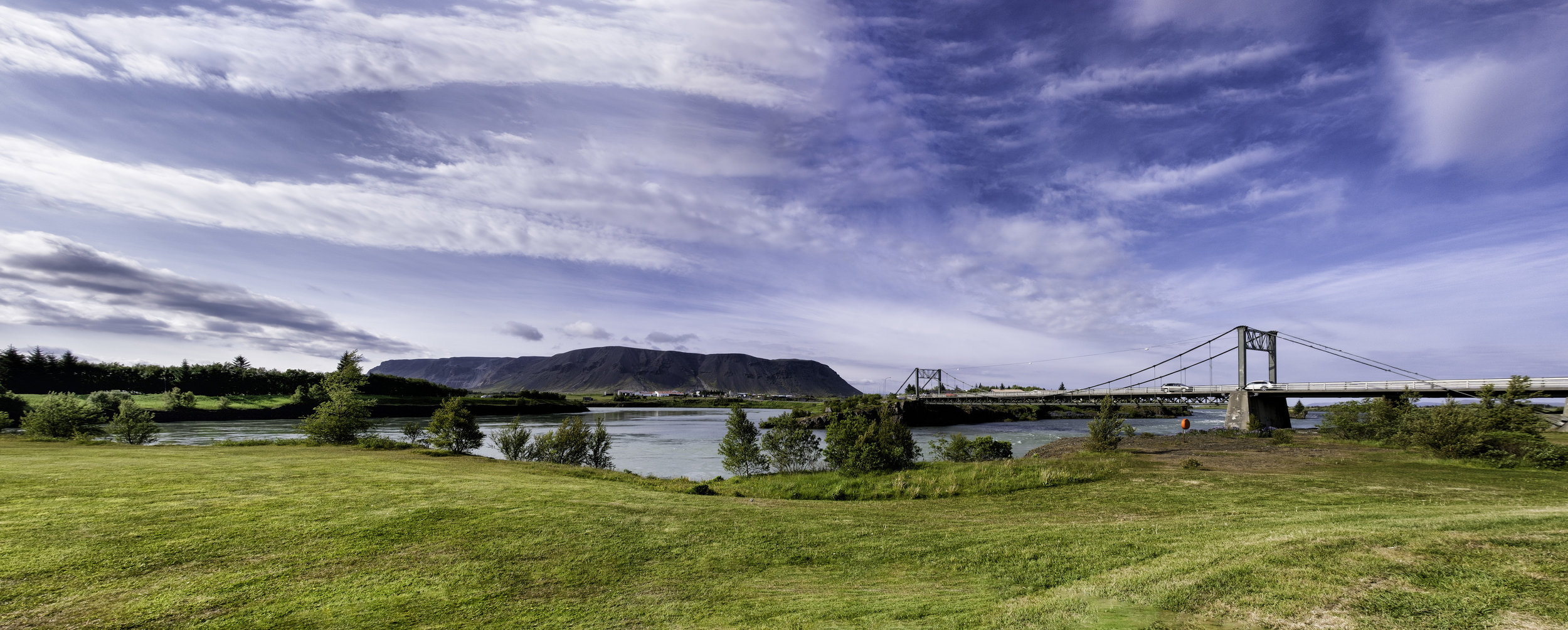 View of Olfusa River from the Selfoss Hotel