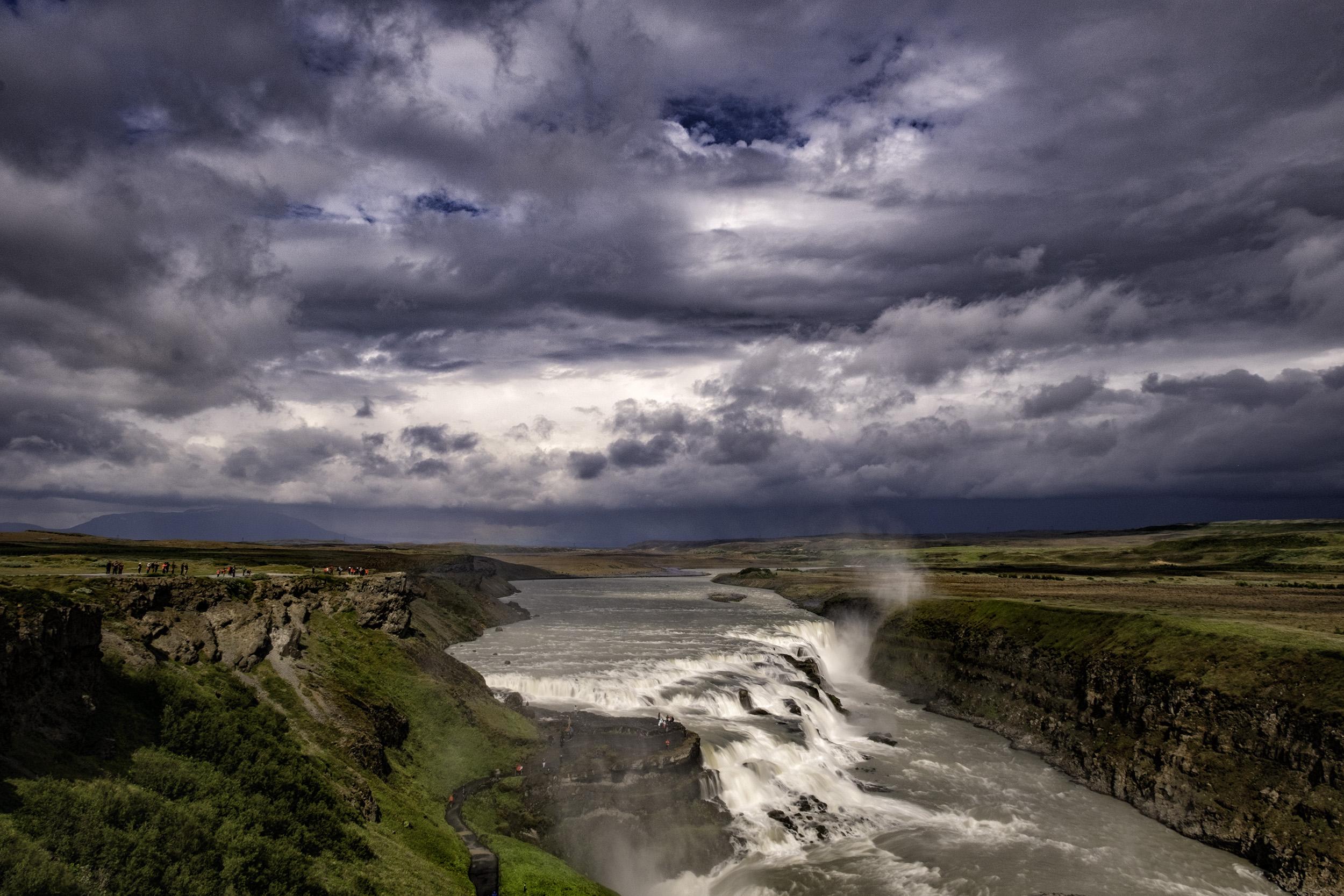 Storm over Gullfoss, Iceland