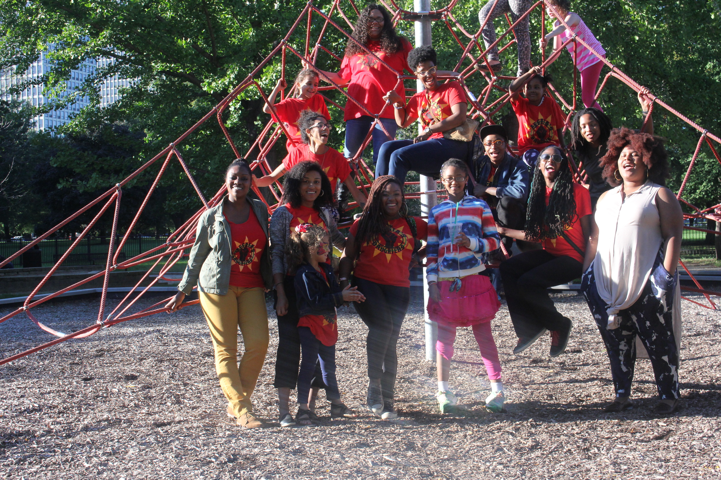Assata's Daughters, a mentoring and empowerment non-profit for young black girls, enjoys a new Chicago Plays space  [Image with permission]