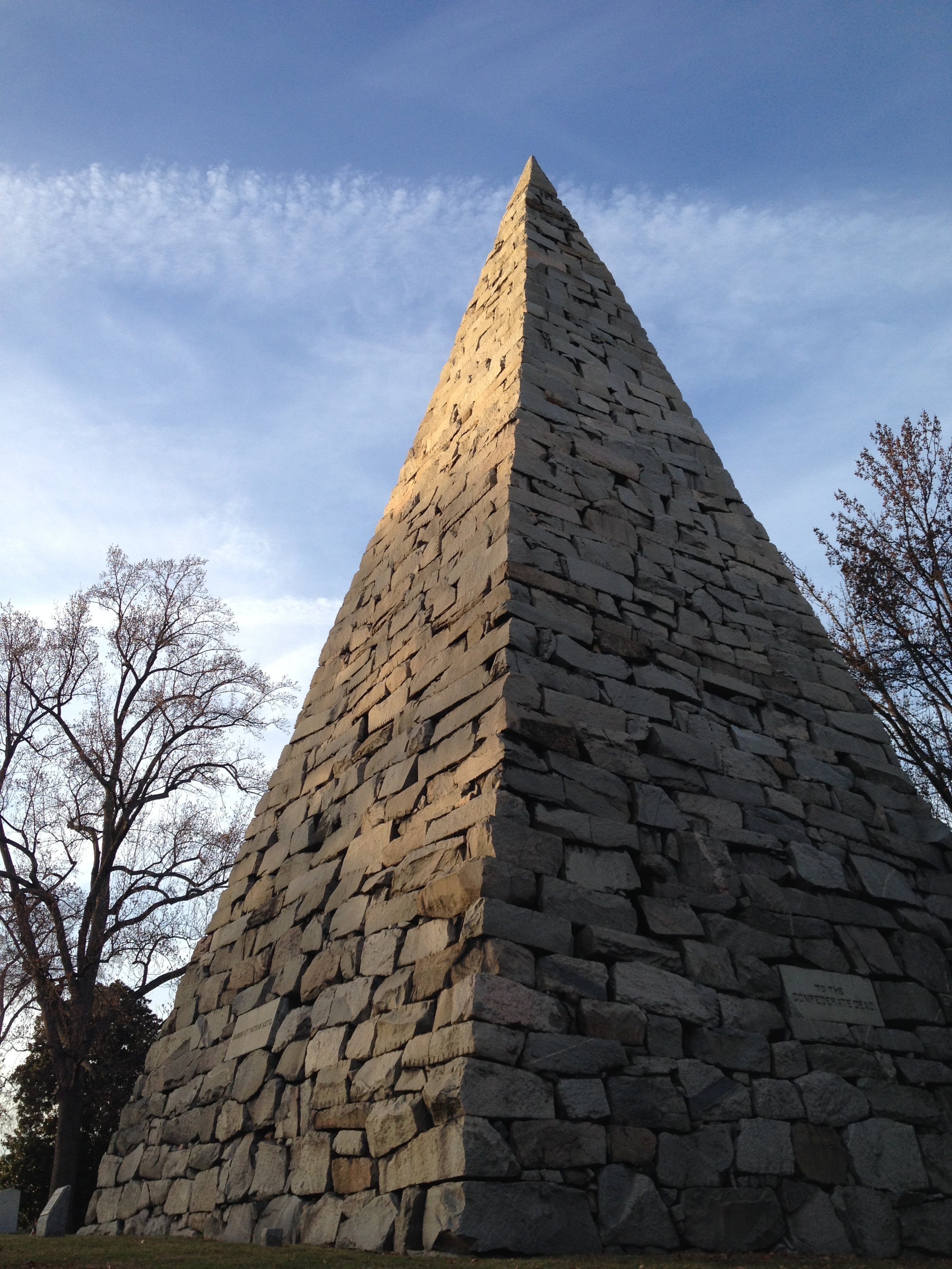 Confederate Soldiers Monument, Hollywood Cemetery, Richmond, Virginia, December 2014. Photo: EHP