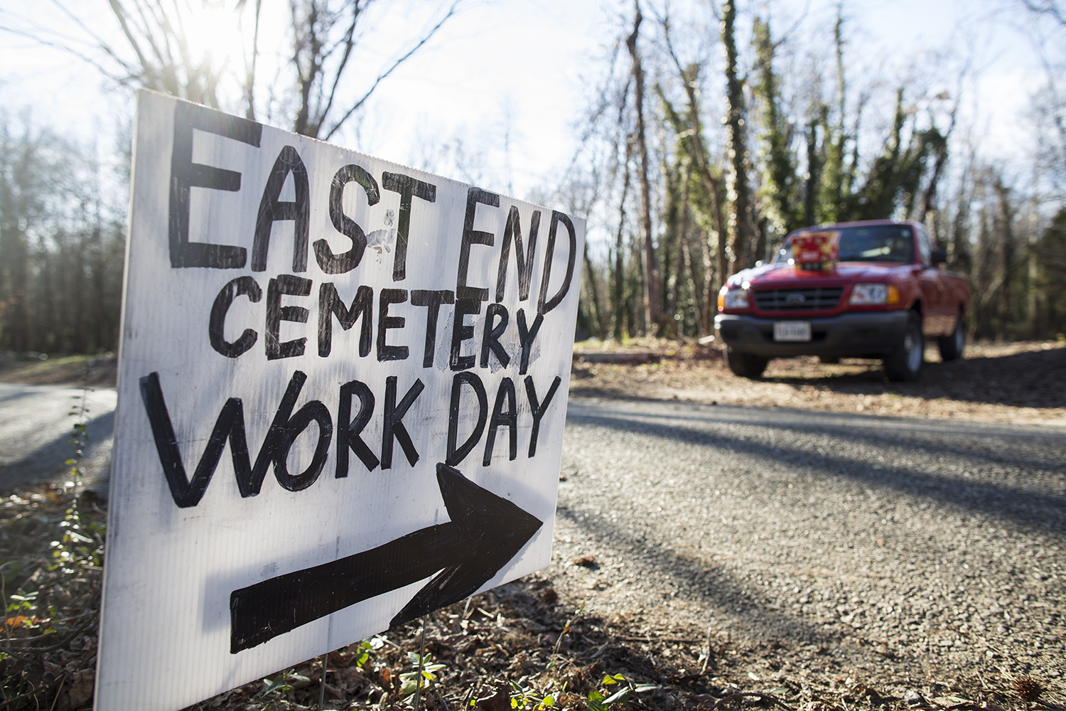 East End Cemetery Work Day, Henrico County/Richmond, Virginia, January 31, 2015. ©brianpalmer.photos 2015