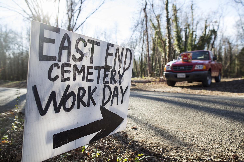 East End Cemetery Work Day, Henrico County/Richmond, Virginia, January 31, 2015. ©brianpalmer.photos 2015