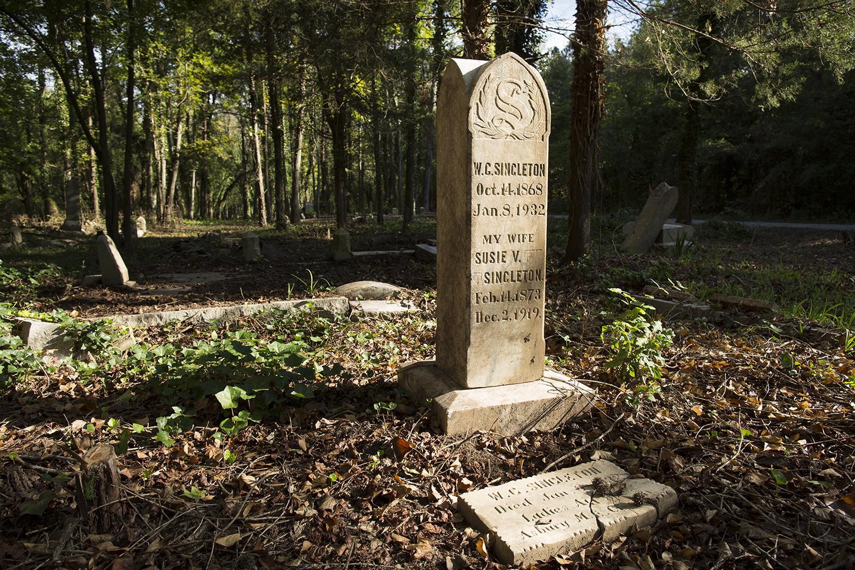 Singleton family memorial.East End Cemetery, Henrico County, Virginia, October 2015. Photo: ©BP