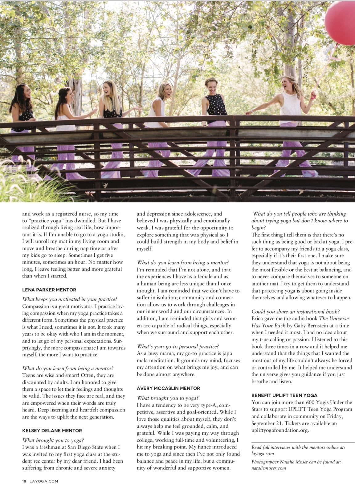 LA Yoga Magazine, September 2018