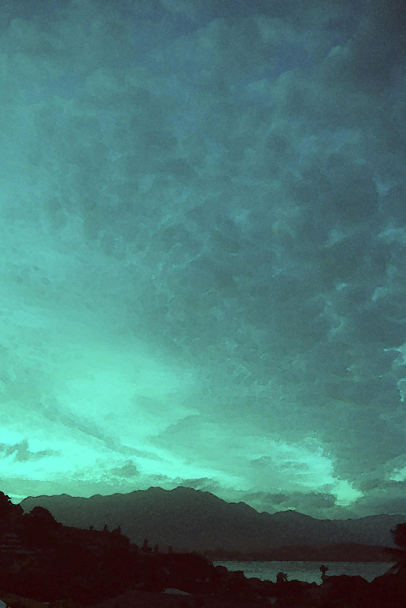 Blue Dusk on Kaneohe Bay