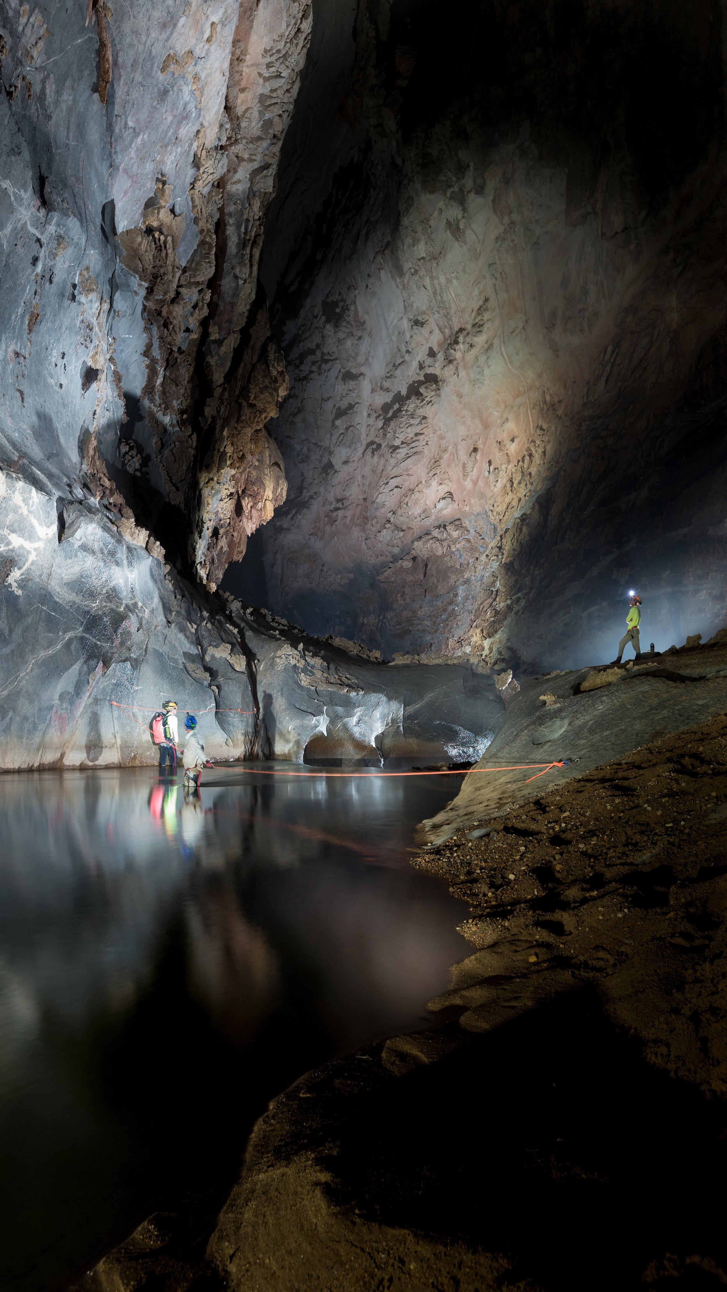 Hang Son Doong Cave inside river crossing Gregg Jaden