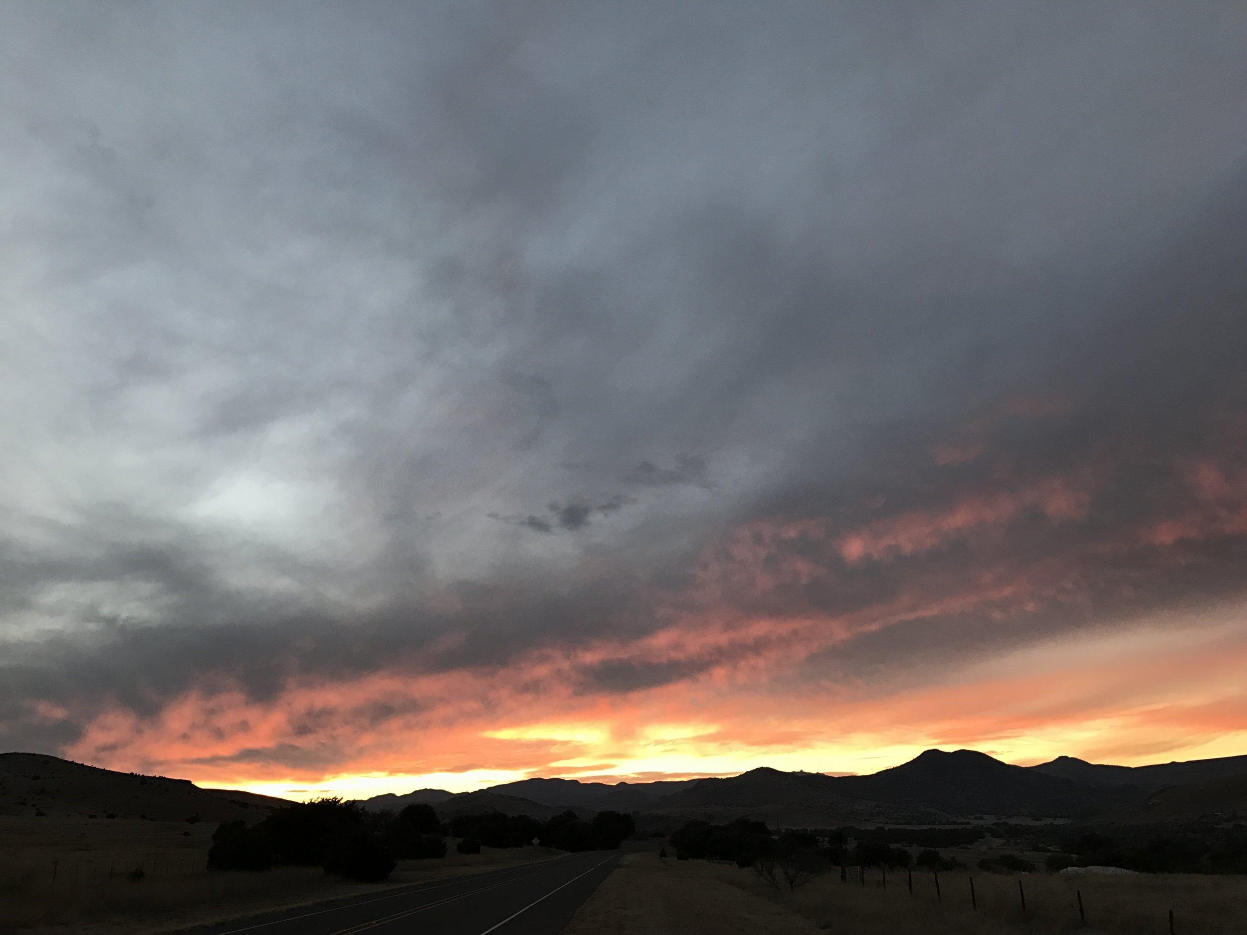 Sunset in Fort Davis