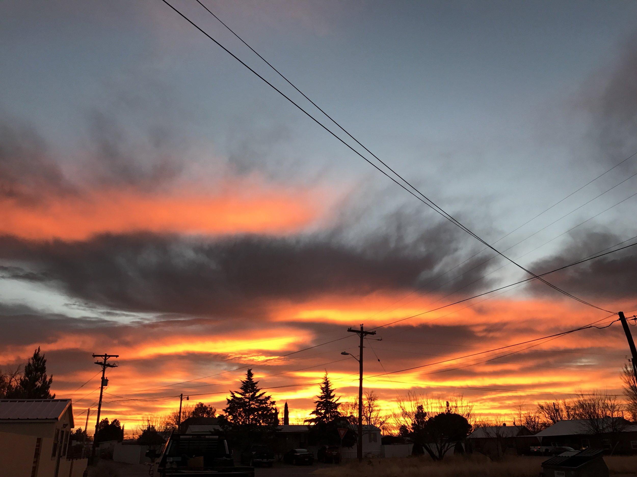 Sunrise in Marfa