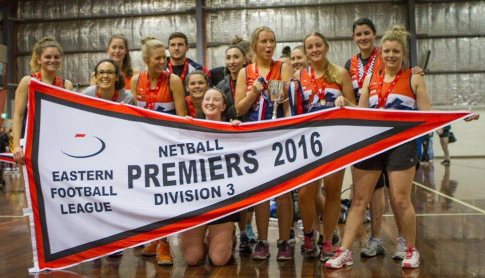 Our 2016 Netball EFL Division 3 Premiership winning team