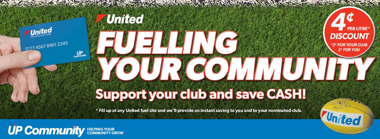 United Fuel -  Sign up for a United Fuel card under the Waverley Blues, receive 4 cents off and 2 cents from every litre goes back to our Club.  http://new.unitedpetroleum.com.au/fuelling-communities-efl/
